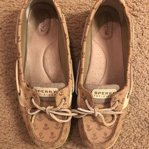 Sperry Angelfish Top-Siders with Anchors Size: 10
